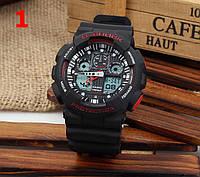 Часы Casio G-Shock GA100 черные с красным