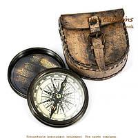 Компас подарочный в кожаном чехле с крышкой Port Elizabeth NIS148L