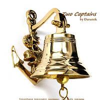 Морской колокол с декором в виде якоря «Гольфстрим» 10 см S6098