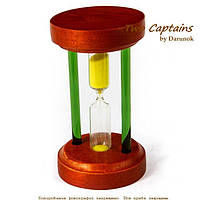 Стеклянные песочные часы на 5 минут в корпусе деревянном BMS89