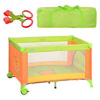 Манеж-кровать Bambi M 1600 львенок зелено-оранжевый