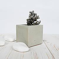 Кашпо  бетонное цвет серый