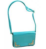 Женский клатч сумка бирюзовый