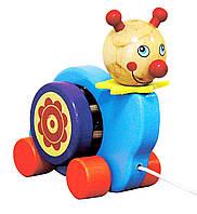 """Детская деревянная игрушка-каталка """"Улитка"""""""