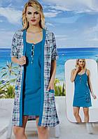 Женский комплект халат с ночной рубашкой SIS-105