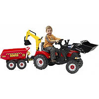 Детский педальный трактор Falk 995W с двумя ковшами