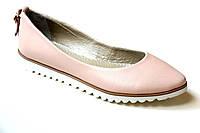 Женские балетки Pinky пудровые натуральная кожа