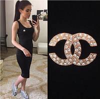 """Женское Платье - майка длинное """"Chanel"""" р. 42,44,46,48- черный"""