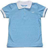 Футболка поло для мальчика, короткий рукав, голубого цвета, трикотажный воротник, рост 122 см, ТМ Ля-ля