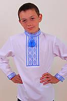 """Вышиванка детская """"Орест"""" (синий и красный) ткань поплин"""