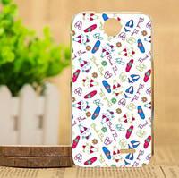 Силиконовый чехол накладка для HTC Desire 310 с картинкой пляжные вещи