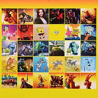 Блокнот с наклейками (Человек-паук, Губка Боб, Корпорация монстров, Том и Джерри, Астерикс и Облелик) по 6 шт.