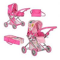 Коляска для кукол трансформер Melogo 9379/029: люлька-переноска, корзинка, сумка, 67х43х80 см