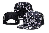 Кепка Vans Off The Wall Flowers Snapback Black-White