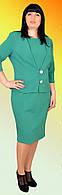 Женское платье с пиджаком большого размера №1157 (зеленый)