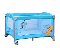 Манеж  детский  прямоугольный Винни Пух голубой Bambi