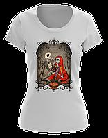 Стильная футболка женская Джек и Салли (Jack & Sally)