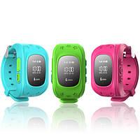 Детские часы-телефон с GPS трекером Q50 оригинал с OLED дисплеем - настройка бесплатно