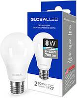 Светодиодная лампа GLOBAL LED 1-GBL-162 А60 8W 4100K