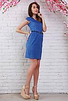 Классное повседневное платье из котона модной расцветки