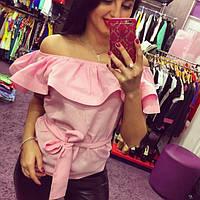 Блуза женская Яна розовая , магазин одежды