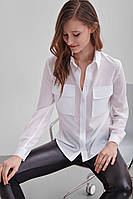Легкая летняя шифоновая женская рубашка