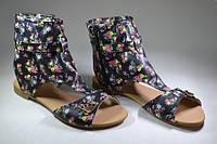 Женские кожаные римлянки, сапоги летние. Возможен отшив в других цветах кожи и замши