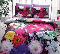 Комплект постельного белья TAC Сатин 3D FLOWERS V01