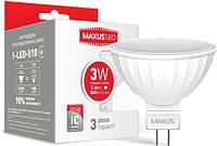 Светодиодная лампа MAXUS MR16 3W GU5.3 4100К