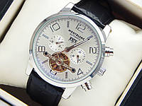 Мужские механические наручные часы Montblanc Automatic с турбийоном на кожаном ремешке