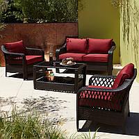Набор садовой мебели George Home Sumatra 4 Piece Conversation Sofa Set in Chilli Red