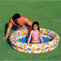 Детский надувной бассейн Intex Шарики 122*25см 59421, бассейн для детей, бассейн детский Интекс