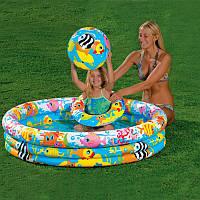 Детский надувной бассейн Intex 59431 «Тропические рыбки» 132*28см, бассейн надувной интекс, бассейн для детей