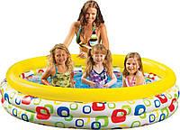 Надувной бассейн для детей Intex 58449 «Волны» 168*41см, бассейн интекс, детский бассейн, бассейн для дачи