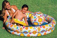 """Детский надувной бассейн Intex 59460 с надувным кругом и мячом """"Шарики"""" 122*25см, бассейн для детей на дачу"""