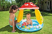 """Надувной детский бассейн с навесом """"Грибок"""" Intex 57114 102*89см, надувной бассейн для малышей интекс"""