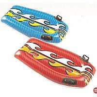 Надувной детский плот Intex 58165 112*62см с ручками, надувной плот для обучения плаванию Серфинг