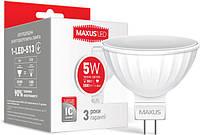 Светодиодная лампа MAXUS MR16 5W GU5.3 3000К