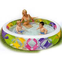 Детский надувной бассейн Intex 56494, бассейн для детей 229*56см с надувным дном Интекс