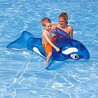 """Надувной плотик """"Дельфин"""" Intex 58523 164*77см, детский надувной плотик для плавания, надувная игрушка"""