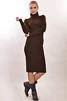Повседневное зимнее платье Чулок - зима цвета: темно-синий | бриз | шоколад