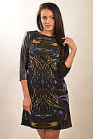 Оригинальное платье с рукавами из кожзама Африка