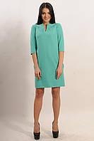 Стильное платье с вышивкой Мелисса цвета: мята | капучино