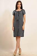 Легкое летнее платье с цветочным принтом Кира  цвета : темно-синий | баклажан | фиолет | коралл