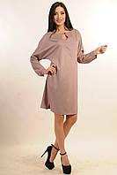 Платье прямого свободного кроя летучая мышь Такада цвета: лиловый,