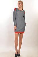 Платье полуприлегающего силуэта с двумя карманами  Тринити цвета: вишня | голубой,