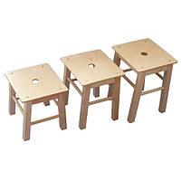 """Деревянные детские стулья без спинки """"Хокер"""" 30см"""