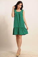 Летнее платье свободного силуэта Джесс цвета: зелёный, коралл, принт пикассо, принт цветочный