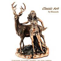 Статуэтка Диана богиня охоты с оленем покровительница охотников TS1016