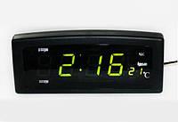 Электронные часы Caixing CX 818 с большими светящимися цифрами